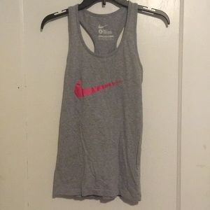 Grey and Pink Nike Slim Fit Tank Size S